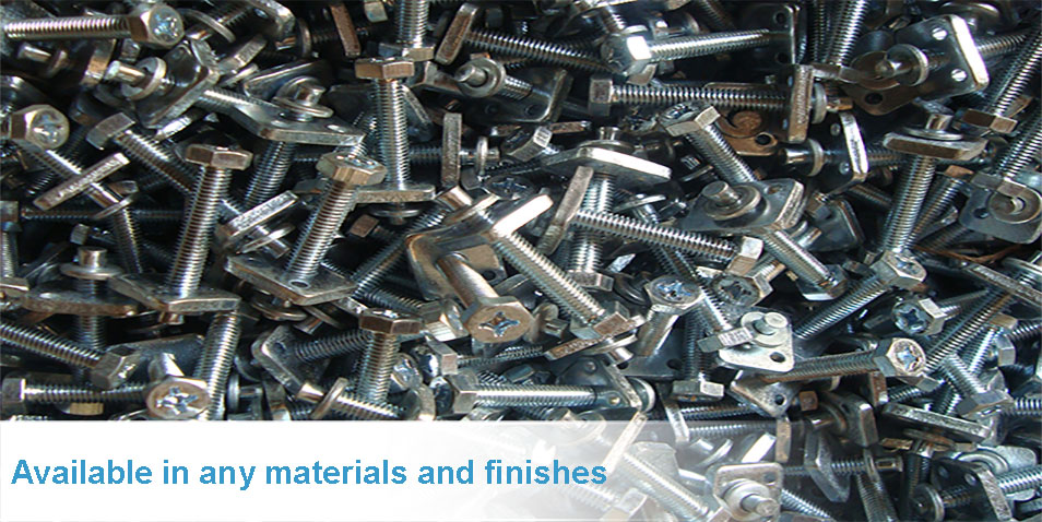 Screws, nuts and bolts are available in any materials and finishes